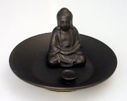 Buddha Incense Tray (Brown)