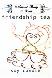 Natural Body & Bath Soy Candle - Friendship Tea