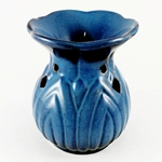 Ceramic Oil Burner (Blue Feathers)
